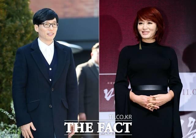 방송인 유재석(왼쪽)과 배우 김혜수(오른쪽)는 위안부 할머니들을 위해 꾸준히 기부 활동에 동참하고 있는 것으로 알려졌다. /더팩트 DB
