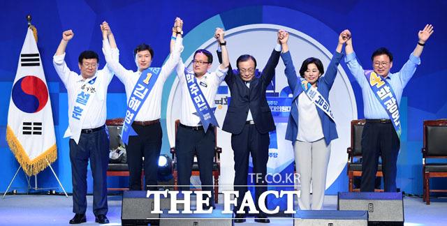 최고위원으로 선출된 설훈, 김해영, 박주민, 남인순, 박광온
