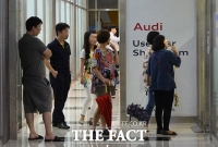 [TF포토] '2천만 원대 아우디 A3  사보자'... 줄 지은 소비자들