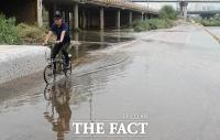 [TF포토] '폭우가 지나간 뒤'…중랑천 곳곳에 남은 물폭탄의 흔적