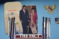 [TF포토] 조코 위도도 인도네시아 대통령, 9일 국빈 방한