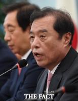[TF포토] 김병준, 판문점 선언 국회 비준 '비핵화 담보 없이 안돼!'