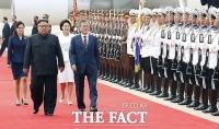 [평양회담] 북한군 의장대 사열받는 문재인 대통령