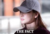 [TF포토] 남친 폭행 의혹…'파스 붙인 구하라'
