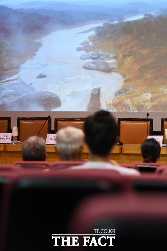 지난 7월 23일 라오스 세피안·세남노이 수력발전 보조댐 붕괴 사고 피해현장