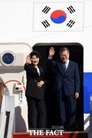 [TF포토] '유엔총회·한미정상회담' 위해 출국하는 문재인 대통령