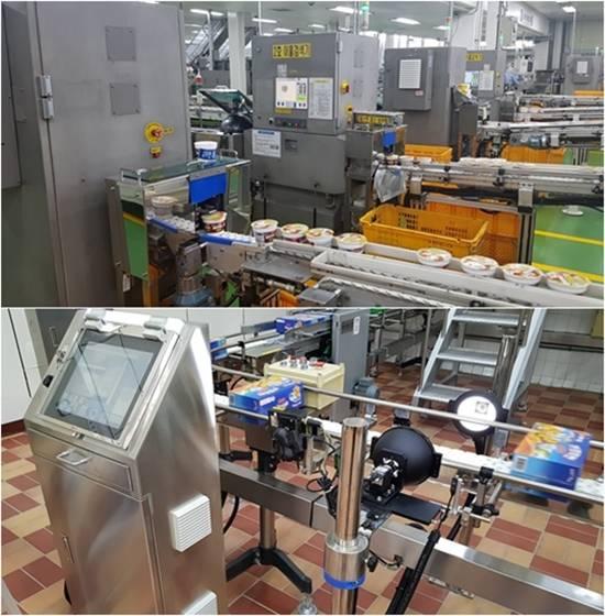 농심엔지니어링은  식품 전문 엔지니어링사로서 자동화된 이물질검사장치(위)와  비전검사장치를 통해 완벽에 가까운 생산 품질관리 시스템을 구축하고 있다. /농심엔지니어링 제공