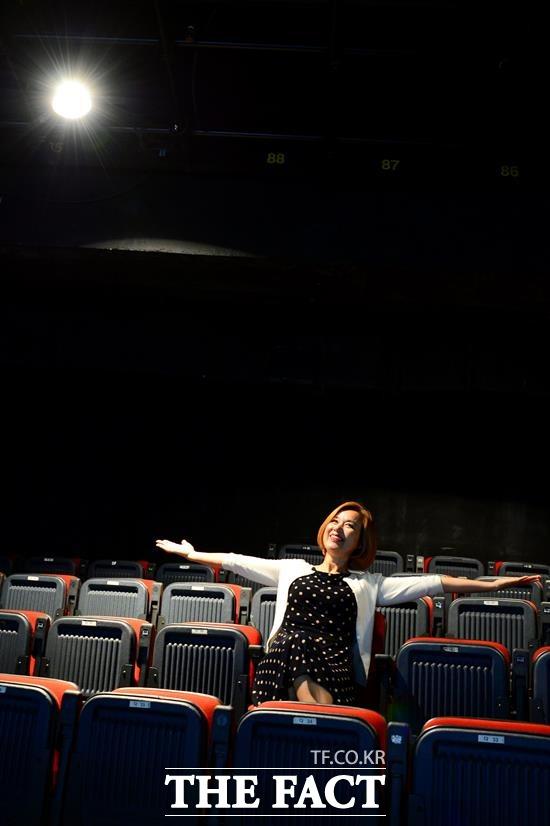 2018년 가을, 박미선은 Shop on the Stage 홈쇼핑 주식회사라는 독특한 스타일의 작품을 들고 연극무대로 돌아왔다. /남용희 기자