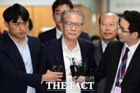 [TF포토] 김기춘, '묵묵부답'으로 선고 공판 출석
