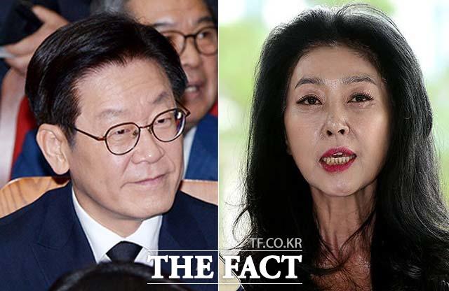 이재명 경기도지사(왼쪽)는 16일 배우 김부선과 스캔들 관련 까만 점 논란을 종식하기 위해 수원 아주대병원에서 신체검증을 단행했다. /더팩트DB