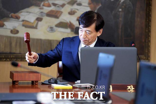 지난 18일 한국은행 삼성본관에서 이주열 한국은행 총재가 금융통화위원회를 주최하고 있다. /이덕인 기자