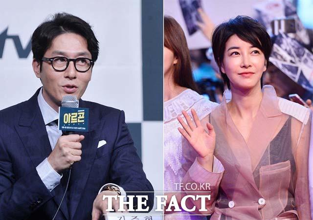 영화 독전(감독 이해영)에 함께 출연한 배우 고(故) 김주혁(왼쪽) 진서연은 나란히 남녀조연상을 수상했다. /더팩트DB