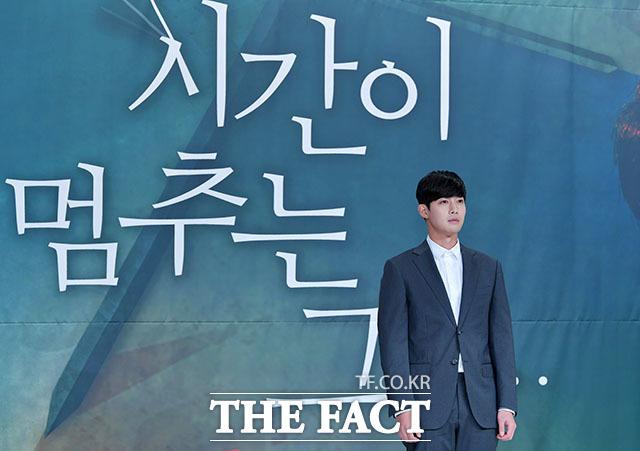 굳은 표정의 김현중