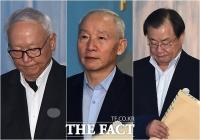 [TF포토] 이병호-남재준-이병기, '공판 출석하는 전 국정원장들'