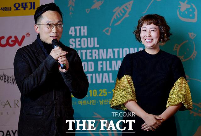 심사를 맡은 이철하 감독(왼쪽)과 홍신애 요리연구가