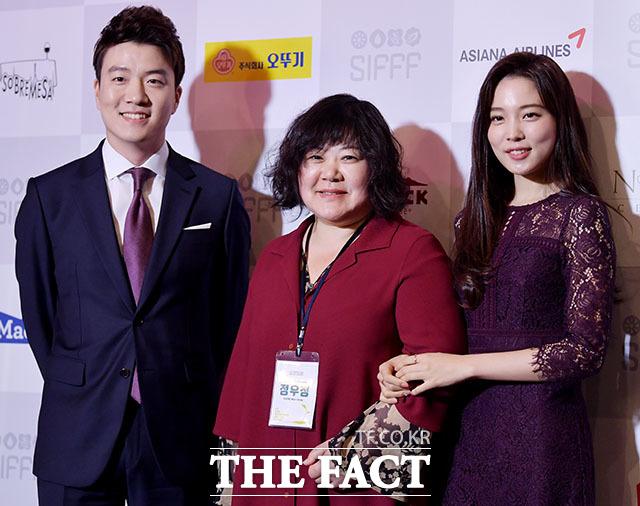 엄주원 아나운서와 정우정 집행위원장, 배우 윤소희(왼쪽부터)
