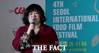 [TF포토] 서울국제음식영화제 개회사 하는 정우정 위원장