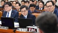 [TF포토] 기재위 종합국감에서 답변하는 김동연 부총리