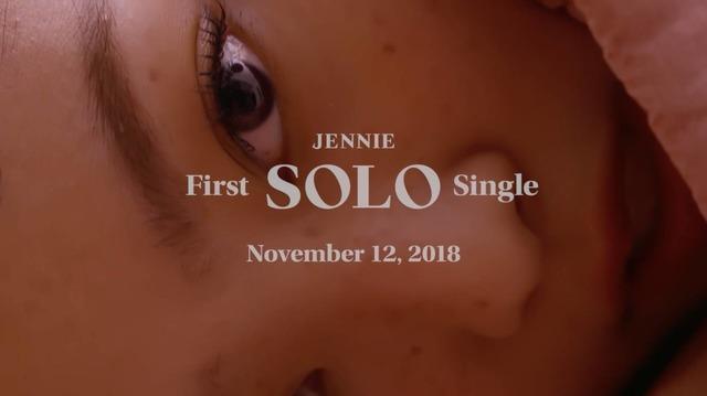 11월 12일 블랙핑크 제니가 첫 솔로앨범 솔로로 데뷔한다. /YG엔터테인먼트 제공