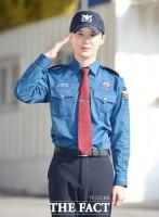 [TF포토] 김준수, '충성! 전역을 신고합니다'