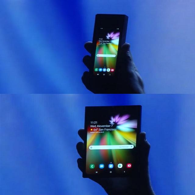삼성 폴더블폰 맛보기…'펴면' 태블릿 '접으면' 스마트폰