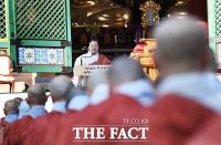 [TF포토] 조계종 제36대 총무원장 취임사 하는 원행 스님