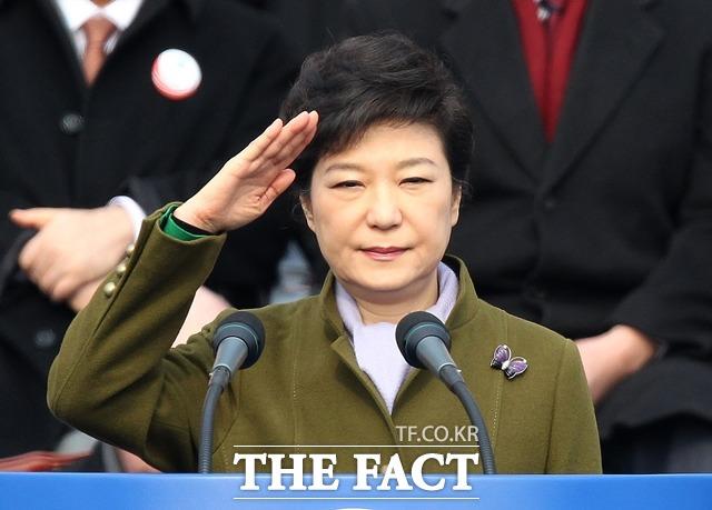 보수정당 역사상 여성 대표, 여성 대통령은 있었지만 여성 원내대표는 나경원 의원이 처음이다. 박근혜 전 대통령. /더팩트DB