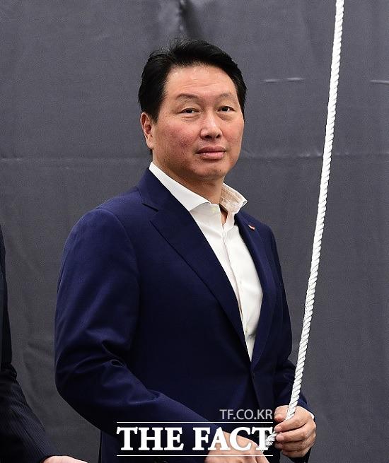 최태원 SK그룹 회장, 19일 하이닉스 M16 공장 기공식 참석