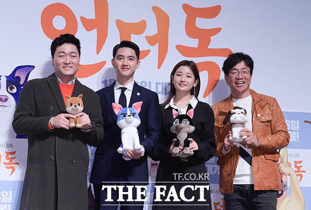배우 이준혁과 도경수, 박소담, 박철민(왼쪽부터)