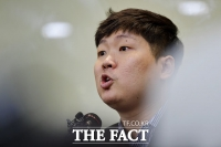 [TF포토] 긴급 기자회견 갖은 신재민 전 기획재정부 사무관