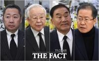 [TF포토] 박정원-손경식-이재오-홍준표, 오세훈 부친상 찾은 정재계인사