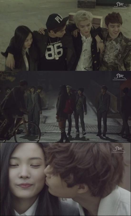 윤소희는 과거 엑소 뮤직비디오에 출연해 팬들의 부러움을 받은 바 있다./엑소 뮤직비디오 캡처