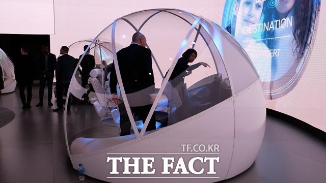 현대자동차는 CES 2019에서 동그란 모양의 미래 자동차 모습을 선보였다. /라스베이거스=서민지 기자