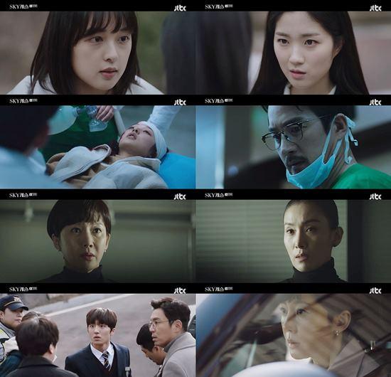 JTBC 금토드라마 SKY캐슬은 11일 닐슨코리아 전국 유료플랫폼 가구 기준 시청률 16.4%를 기록했다. /JTBC SKY캐슬 방송 캡처