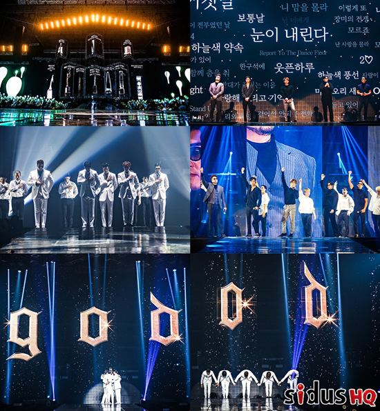 그룹 god는 13일 오후 5시 서울 송파구 올림픽공원 KSPO DOME에서 20주년 기념 콘서트를 연다. /sidusHQ 제공