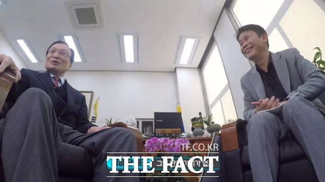 이해찬 민주당 대표가 홍준표 전 자유한국당 대표를 조언할 가치가 없는 사람이라고 혹평했다. /민주당 유튜브 채널 씀 갈무리