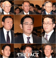 [TF포토] '청와대로 향하는 재계 총수들'