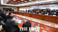 [TF포토] '더불어민주당-금융투자업계 현장 간담회'