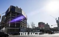 [TF포토] 용산참사 10주기…'변해가는 남일당 터'