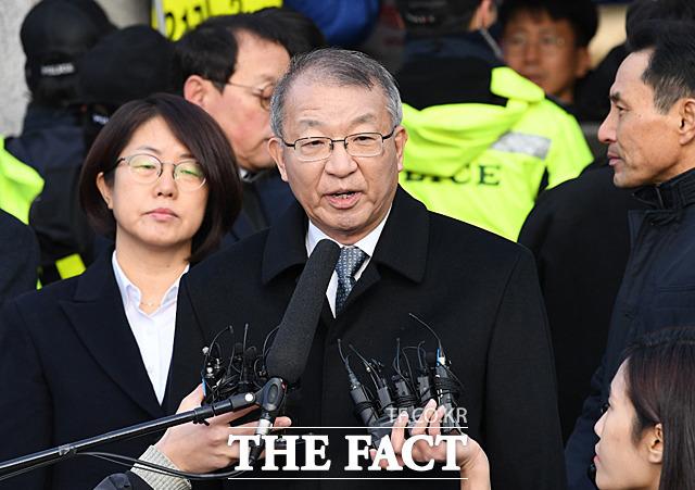 양승태 전 대법원장의 구속영장 심사가 하루 앞으로 다가온 가운데 영장 발부에 세간의 이목이 쏠리고 있다. /남윤호 기자