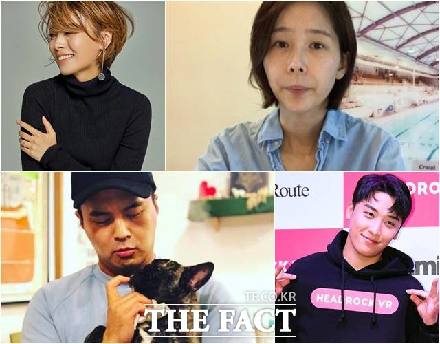 선예는 최근 세 아이의 엄마가 됐다. 김나영은 이혼 소식을 직접 밝히며 싱글맘으로서 살겠다고 밝혔다. 정준은 건물주로부터 피소 당한 기사에 대해 속상하다는 입장을 밝혔다. /폴라리스엔터테인먼트 제공, 김나영 유튜브 영상 캡처, 정준 인스타그램, 더팩트DB