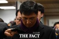 [TF포토] 안희정, '말 없이 2심 재판장으로'