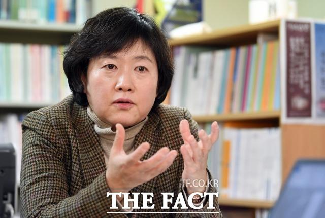 김은주 소장은 여성할당제 도입 이후 의회 내 여성 비율이 높아졌지만 이후로는 큰 변화가 없었다고 꼬집었다. /이새롬 기자