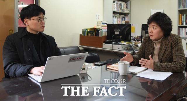 김은주 소장은 국내 여성 정치 발전을 막는 가장 큰 문제는 정당이라고 지적했다. /이새롬 기자