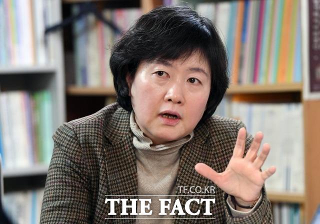 김은주 소장은 여성과 남성에게 선거권이 동등하게 주어지는 것만을 평등으로 생각해선 안 된다고 견해를 밝혔다. /이새롬 기자