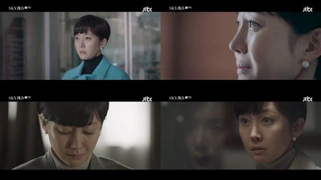 배우 염정아는 JTBC 스카이 캐슬에서 한서진 캐릭터로 분해 열연을 펼쳤다. /JTBC 스카이 캐슬 방송 캡처