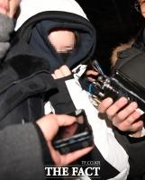 [TF포토] 경찰 조사받고 나온 버닝썬 마약 공급 혐의 '애나'