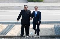 한국보도사진상 대상에 문재인 대통령·김정은 위원장 사진 선정