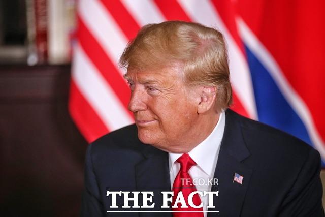 38노스 조엘 위트 대표가 미국 도널드 트럼프 대통령에 대해서 평가했다. 사진은 지난해 6월 북미정상회담 당시 트럼프 대통령 모습.  /싱가포르 정보통신부