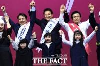 [TF포토] 김진태-오세훈-황교안, '당 대표직은 누구에게?'
